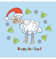 sheep card for new year vector image