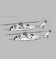 sikorsky ch-53e super stallion vector image vector image