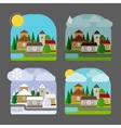 Small town landscape in flat style vector image vector image