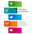 social media money vector image vector image
