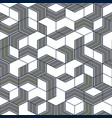 streets and roads pattern geometric style vector image