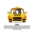 taxi service icon african american driver and male vector image