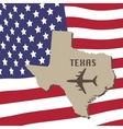 Texas Air Travel Concept vector image vector image