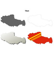 Tibet outline map set - Chinese version vector image vector image