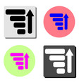 to the top graph flat icon vector image vector image