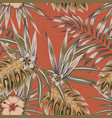 tropical vintage seamless pattern vector image vector image