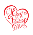 valentine calligraphy heart 380 vector image vector image