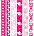 valentine design border vector image vector image