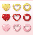 valentines day holiday collection set of glitter vector image vector image