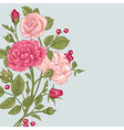 vintage background with a bouquet roses vector image vector image