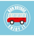 von voyage seal design vector image vector image