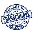 welcome to Franschhoek vector image vector image