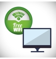 Wifi design vector image