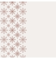 Winter background with seamless snowflakes pattern vector image vector image