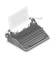 typewriter isometric vector image