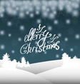 Christmas background with Christmas trees and snow vector image