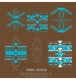 Tribal elements ethnic collection in aztec vector image