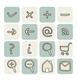 Set with doodle hand drawn icons vector image