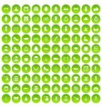 100 vitamins icons set green circle vector image vector image