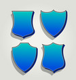 3d blue set of badges and labels vector image vector image