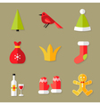 9 Christmas Icons Set 6 vector image vector image