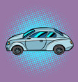 a passenger car on pop art background vector image