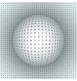 Abstract Sphere on Binary Background vector image vector image