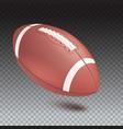 american striped football ball diagonal position vector image vector image