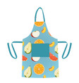 apron with fruit pattern design vector image vector image