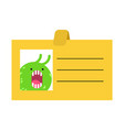badge office plankton slug business cartoon style vector image vector image