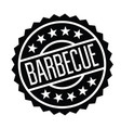 barbeque stamp in italian vector image vector image