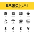 Basic set of Banking icons vector image vector image