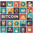bitcoin - set of colorful flat design infographics vector image vector image