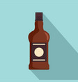 bottle of cognac icon flat style vector image vector image