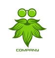 cannabis man logo vector image vector image