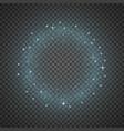 circle of glitter particles aqua color vector image vector image