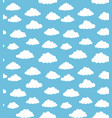 cloudy sky texture vector image vector image