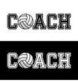 Coach T-shirt Typography vector image vector image