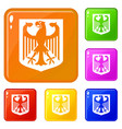 coat arms germany icons set color vector image vector image