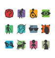 colorful icon set of access signs for physically vector image