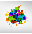 Colorful Stains Blots Splashes Background