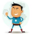 comic superhero character vector image vector image