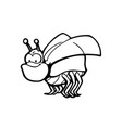 cute and funny bugs animal cartoon character vector image vector image