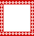 cute christmas or new year frame with red and vector image