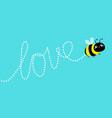 cute flying bee cartoon kawaii bacharacter vector image