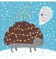 Cute hedgehog Greeting card vector image vector image