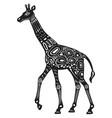 decorated stylized giraffe ethnic style vector image vector image