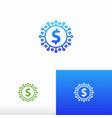 digital money logo designs concept dollar vector image vector image