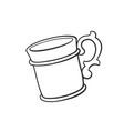 doodle mug vector image