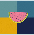 doodle with watermelon vector image